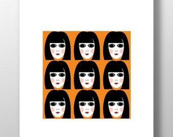 60s Girl Print - Retro Vintage 1960s Unframed