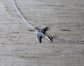 Silver Sparrow Necklace Sterling Silver Chain