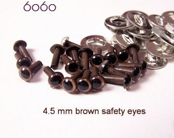 4.5 BROWN amigurumi / plastic / animal / safety eyes - 10 pairs