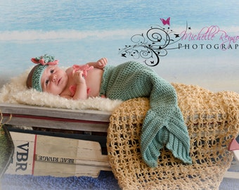 Crochet PATTERN Mermaid Cocoon Tail Fin