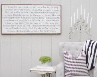 Grace's Prayer - Wood Sign