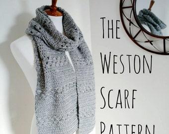 The Weston Scarf Pattern • Crochet Scarf Pattern