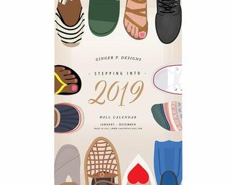 Stepping into 2019 Wall Calendar