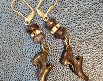 Shoe Earrings Antique Assemblage: Shoes, Glorious Shoes!