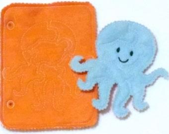 Felt quiet book - Toddler quiet book - Quiet book page - Toddler busy book - Busy book page - Felt busy book - Octopus puzzle page #QB795