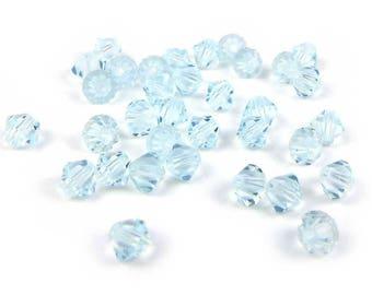50 x® 4 mm LIGHT AZORE Swarovski Crystal bicones