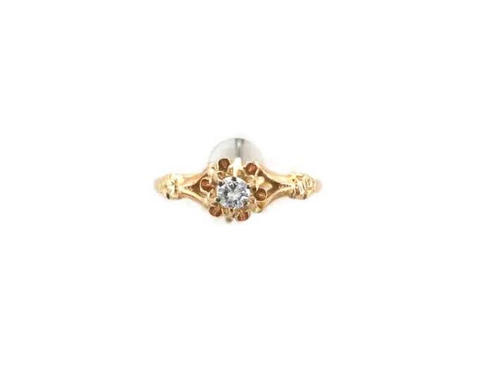 14 Karat Yellow Gold Diamond Victorian Ring, Antique Engagement Ring, Diamond Engagement Ring, Antique Diamond Ring, Engagement Ring