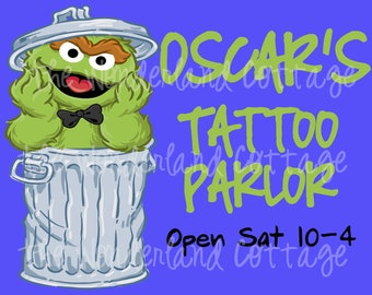 Oscar the Grouch Tattoo Sign