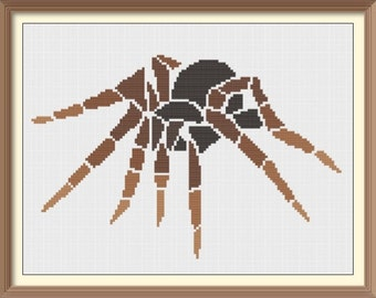 Spider Modern Cross Stitch Pattern PDF Chart Digital Download Colorful Tribal Pattern