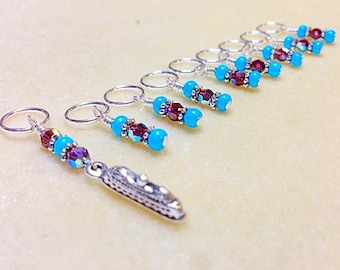 Snag Free Stitch Markers, Cruise Ship Stitch Marker Set, Gift for Knitters, Boat Knitting Marker