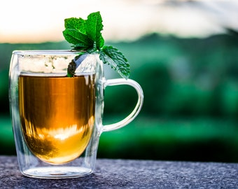 All Natural, Crystalized Instant Herbal Teas, Caffeine-free, Chemical-free, Ginger Honey Tea