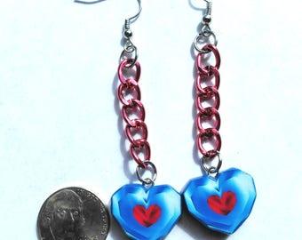 Zelda Heart Container Earrings