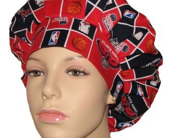 Scrub Hats -  Atlanta Hawks Basketball Fabric
