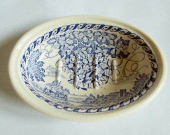 Mason's Wedgwood Blue and White Crabtree and Evelyn Soapdish