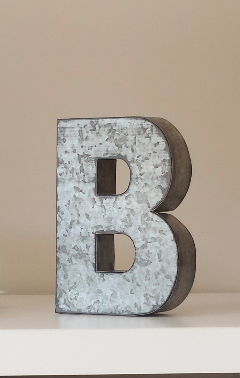 Wood & Galvanized Metal Letter Sale 6 Large Metal Letter Zinc Steel Initial Home Room