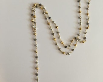 Gold& Pyrite Star Necklace