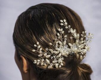 Bridal Hair Comb, Bridal Hairpiece, Hair Vine, Bridal Halo, , Freshwater Pearl Bridal Comb, Bridal Headpiece, Bridal Hair Comb