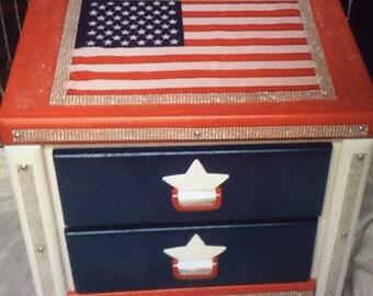Flag furniture  - living room furniture - kids furniture - childrens furniture - military furniture - Stars and Stripes - kids room decor