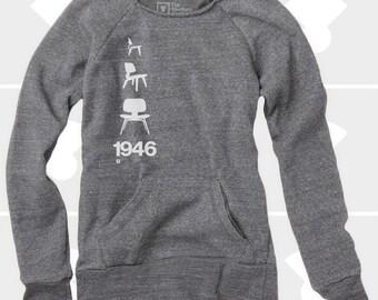 Eames Plywood Chair - Women's Slouchy Sweatshirt