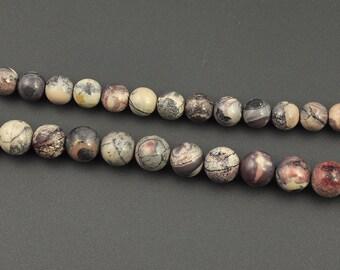 Natural Purple Porcelain Jasper Beads, Round Jasper Gemstone Beads, Loose Stone Beads For Jewelry Making  4mm 6mm, 8mm, 10mm 15'' Strand