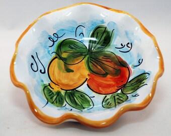 Sicilian Decorative Orange/Lemon Small Bowl