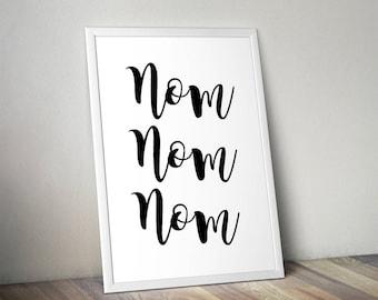 Nom Nom Nom, Kitchen, Home Print, A4 or A5, Quality PaperA3