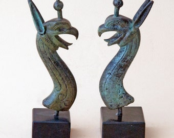 Mythical Bronze Griffin Head Sculpture, Metal Art Sculpture, Museum Quality, Greek Mythology, Collectible Art, Home Decor, Mythical Creature
