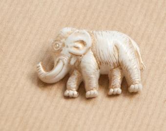 Elephant Brooch Plastic Pin Safari Animal