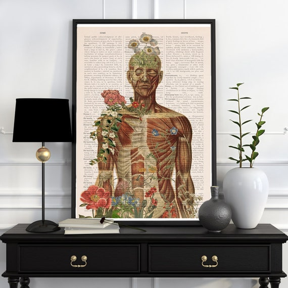 Nature is all around, anatomy art, anatomical art, wall art, wall decor, anatomy, poster, muscles art, science gift, science,  SKA143PA3