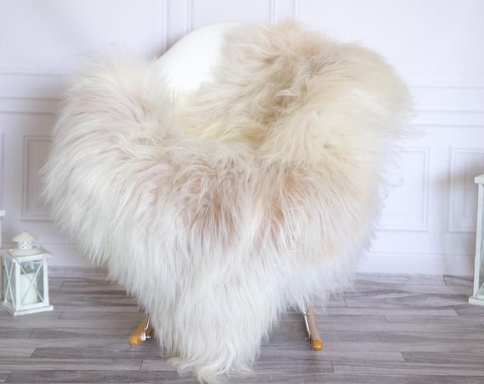 Icelandic Sheepskin | Real Sheepskin Rug |  Super Large Sheepskin Rug Beige White | Fur Rug | Homedecor #KOWISL21