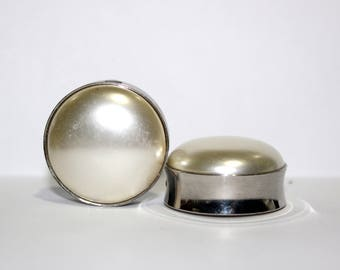 "Cream Pearl Plugs 1 3/16"" 30mm"