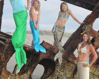 Mommy and Me Mermaid Tails for cosplay, theatre productions, dance productions, plays, parties, parades
