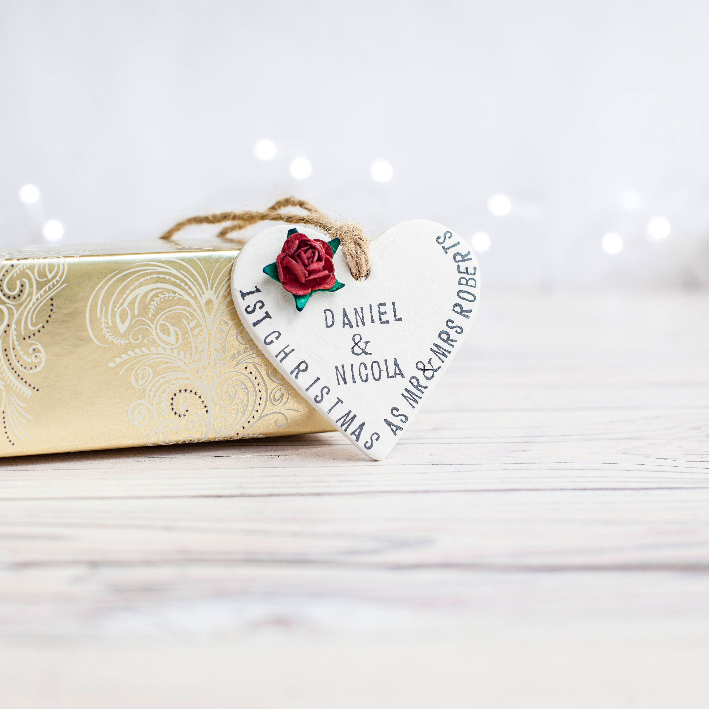 First Chrismas; Christmas Decoration; Tree Decoration; Wedding Gift ...
