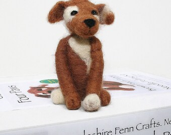 Dog needle felting kit, Needle felting starter kit,Puppy felting kit, Crafts for kids