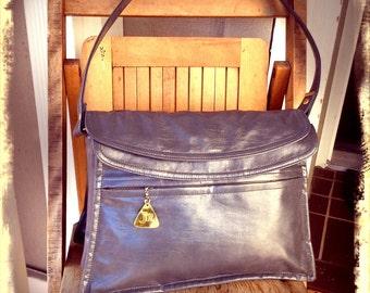 SLATE   ///   Gray Vegan 70s Bag