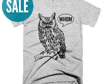 CLEARANCE Funny Grammar Shirt Who Whom Owl Grammatical T Grammar Shirts for Women Christmas Gifts for Teachers Unique Teacher Gifts for Her