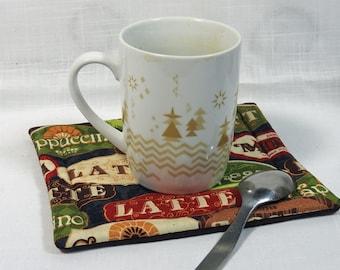 2  Coffee Favs Mug Rugs - Coasters - Hot Pads - Snack Mats