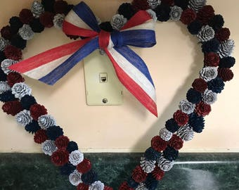 Patriotic Pine Cone Wreath