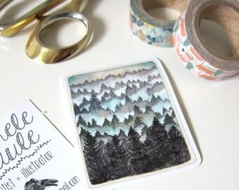 Northwest Forest Stickers - Vinyl Stickers - Forest Stickers - Northwest Stickers - Northwest Souvenirs - Misty Forest Stickers