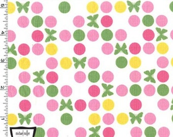 Up And Away - Circle Around Butterflies Fabric - Girl - Sold by the 1/2 Yard