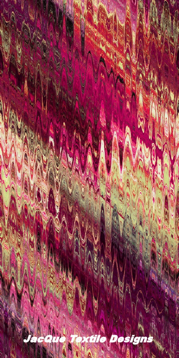 Purple Gold Pink Lavender Abstract Handmade Artisan Textile Art Velvet Upholstery Fabric Fiber Art Fabric