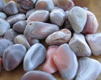 Pink Botswana Agate Medium Tumbled Stone