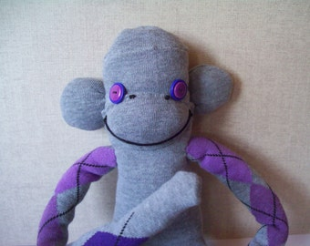 Gillian The Handmade Argyle Sock Monkey
