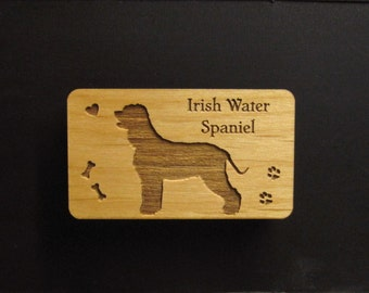Original Design Irish Water Spaniel Wood Magnet