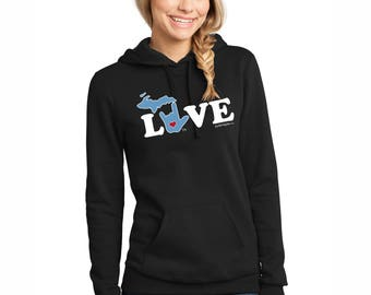 ILY Michigan Hooded Sweatshirt