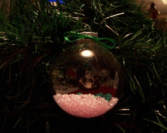 Glass Ornament with Watering Can