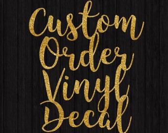 Custom Vinyl Decal Etsy - Custom vinyl cutout stickers