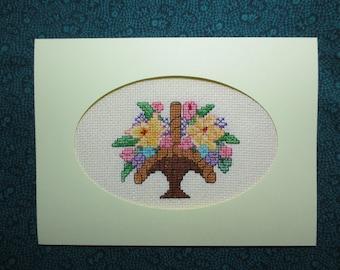 Greeting Card Flower Basket