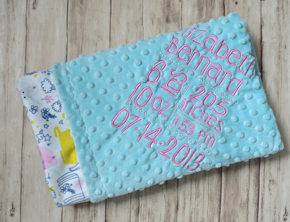 Sale monogrammed baby blanket unicorn minky blanket with like this item negle Image collections