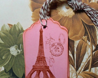 Tags Eiffel Tower Gift Tags Price Tags Wish Tree Party Favor Treat Bag Tag Vintage Style T013